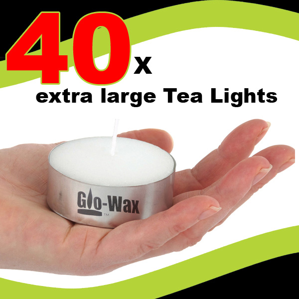 GLO-WAX-EXTRA-LARGE-10hr-LONG-BURN-TEA-LIGHTS-TEALIGHTS